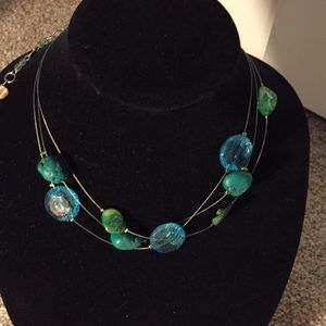 Gorgeous three strand wire necklace